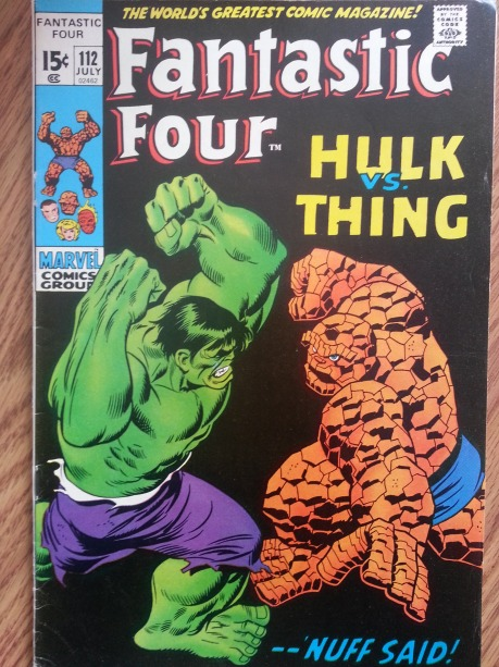 Fantastic Four #112 Hulk vs Thing